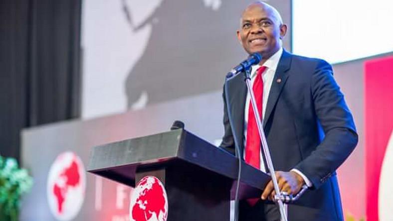 Tony Elumelu making a speech