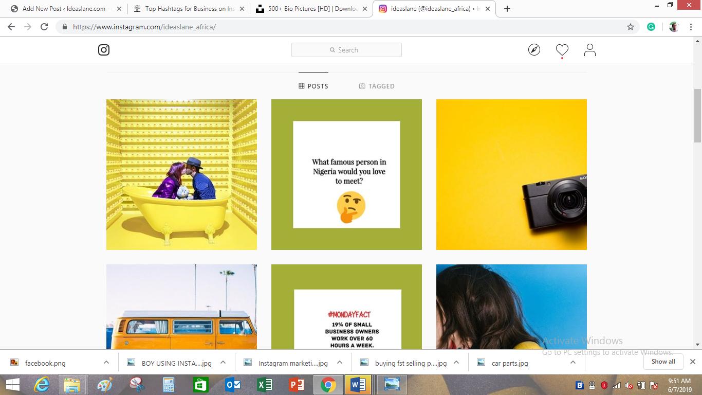 ideaslane instagram for business page
