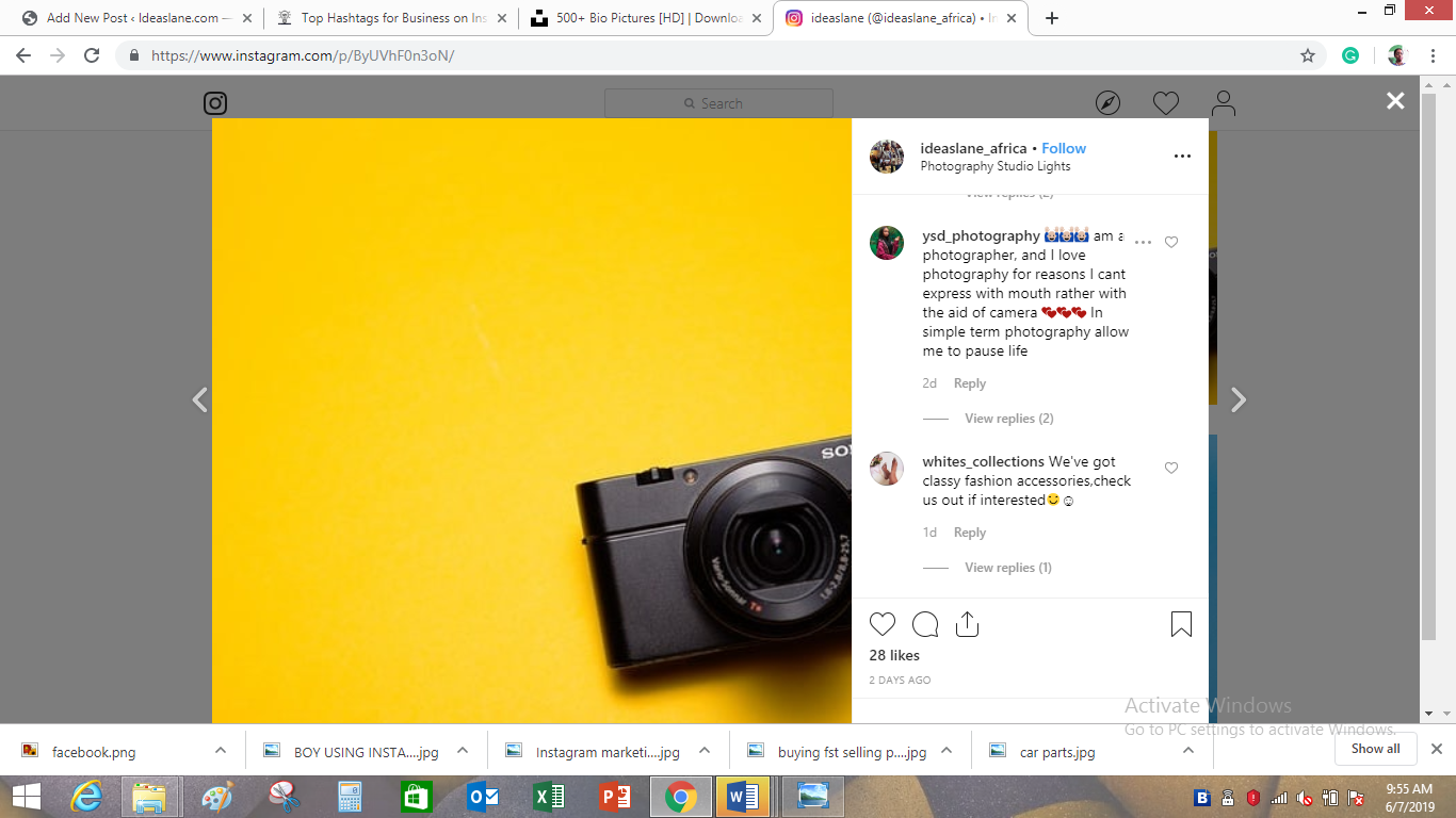 engagements on Ideaslane Instagram page