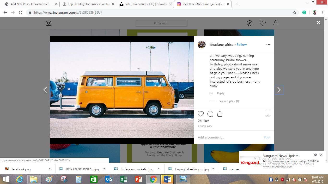 Beautiful yellow bus on Ideaslane page