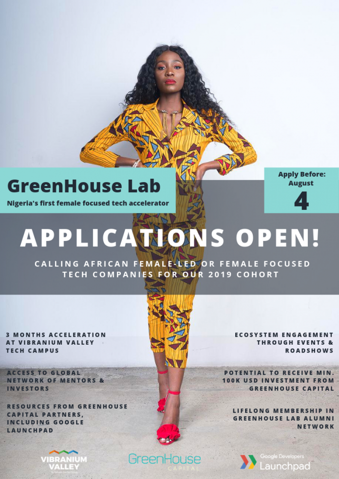 Greenhosue application 2019 in white papper