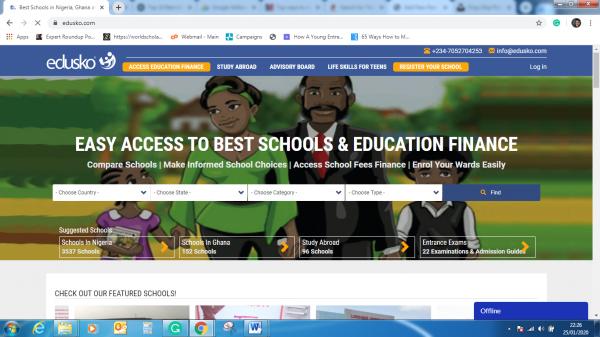 Edusko.com home page