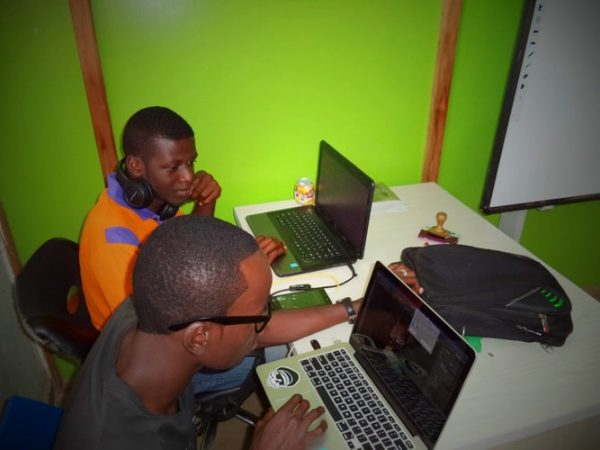 A small digital media office in Nigeria