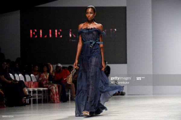 Nigerian model on a run way