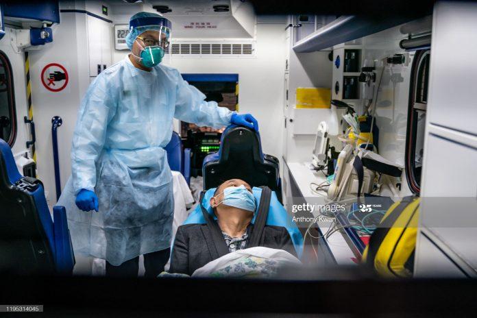 Corona virus patients in a hospital