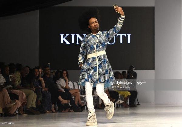 Nigerian Celebrity on a run way