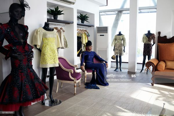 Ankara displayed in a fashion school in Nigeria