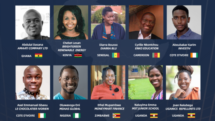 TOP 10 FINALISTS IN ALIBABA'S AFRICAN BUSINESS HEROES