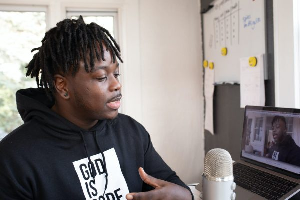 Nigerian YouTuber makes video from home