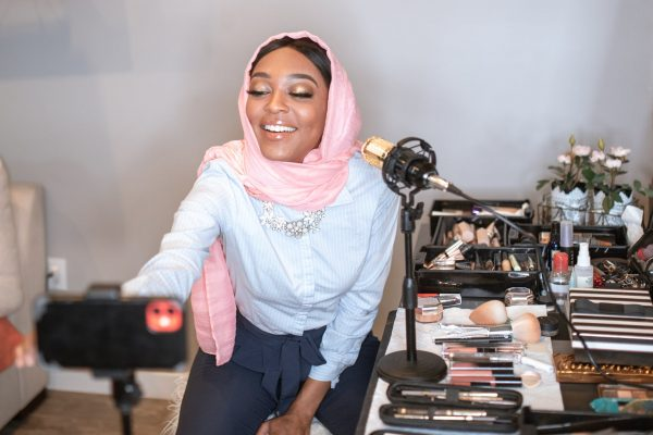 Woman starts a podcast in Nigeria