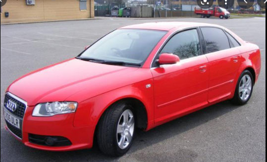 red Audi car best for students in Nigeria