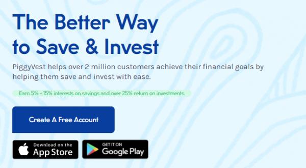 Piggy bank app for best digital banks in Nigeria