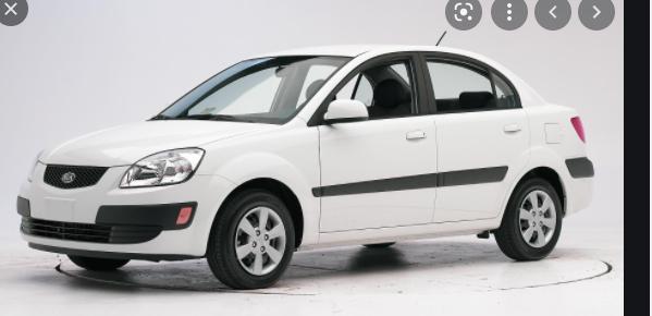 White Rio car for students in Nigeria