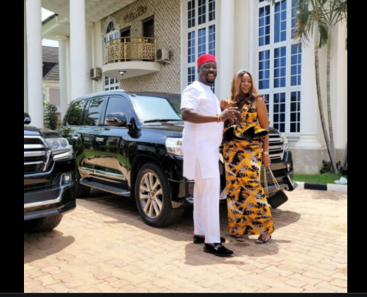Obi Cubana and his wife